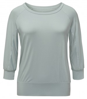 Yoga Curves Collection 3/4 Shirt - jade