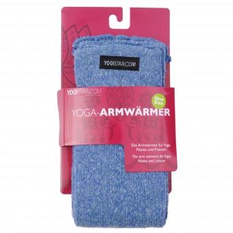 Yoga-Armwärmer saphire blue - Baumwolle