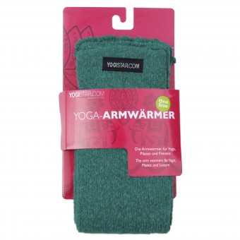 Yoga-Armwärmer emerald green - Wolle