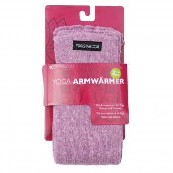Yoga wrist warmers rose - Baumwolle