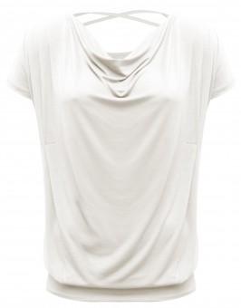 "Yoga-Shirt flowing batwing ""ala"" – ivory M"
