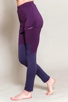 Yoga Skirt Legging, purple XS/S