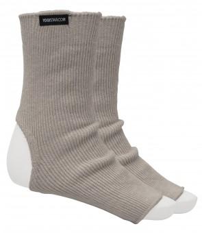 Yoga-Socken stone grey - Wolle