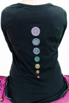 "Yoga-Top ""Chakra"", black XS/S"