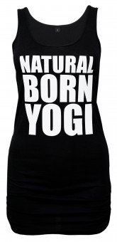 Tank-Shirt Natural Born Yogi - schwarz