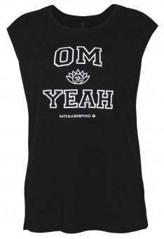 "Yoga-Top ""OM YEAH"", black S"