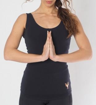 """Yoga-Top """"Sati"""" - anthracite XL"""