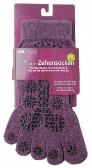 Yoga Toe Socks, elderberry