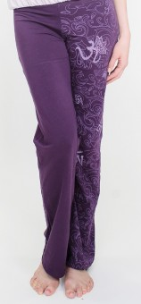 "Yogahose ""Maori OM"" - purple"