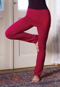 Yogahose mit Rockbund - red