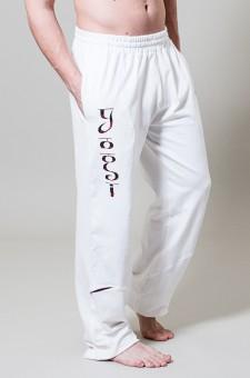 "Yogahose ""Practice"" - white L/XL"