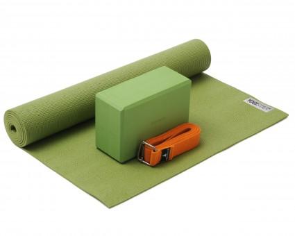 Yoga-Set Kick-It - One (Yoga mat + yoga block + yoga belt) kiwi