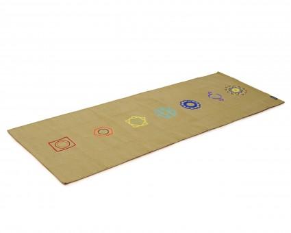 Yogateppich cotton rug - chakra sea weed