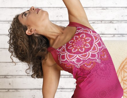 "Yoga-Top ""Chakra"" - paradise pink"