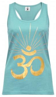 "Yoga-Racerback-Top ""OM sunray"" - mint/gold"