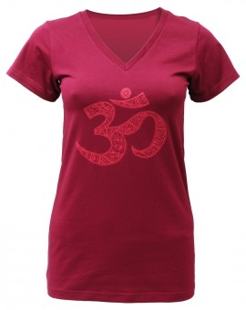"Yogi-T-Shirt ""OM"" - bordeaux"