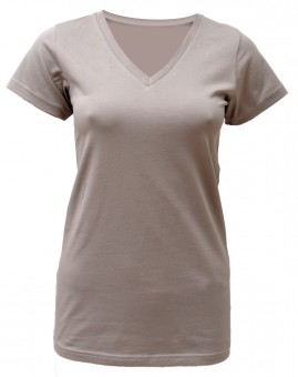 "Yoga-T-Shirt ""Kundalini"" - taupe M"