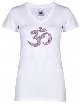 """Yogi-T-Shirt """"OM"""" - white L"""
