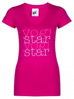 "Yoga-T-Shirt ""yogistar"" - pink S"