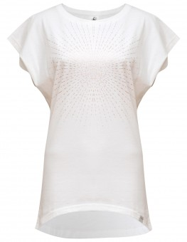 "Yoga-T-Shirt ""Batwing sunray"" - white/copper XL"