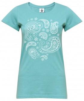 "Yoga-T-Shirt ""paisley"" - mint"