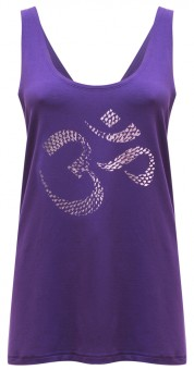 "Yoga-Tank-Top ""OM"" - purple L"