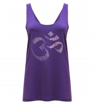 "Yogi-Tank-Top ""OM"" - purple"