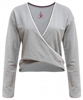"""Yoga-Shirt """"Rhianna"""" - greymelange S"""