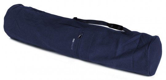 Yogatasche basic - zip - extra big - cotton - 109 cm navy