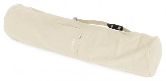 Yogatasche basic - zip - extra big - cotton - 109 cm offwhite