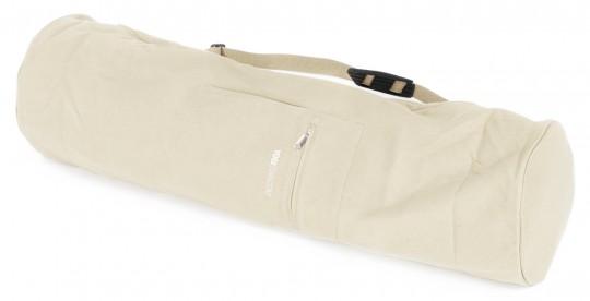 Yogatasche basic - zip - extra big - cotton - 80 cm offwhite