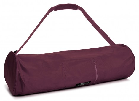 Yoga carrybag basic - zip - extra big - nylon - 80 cm bordeaux