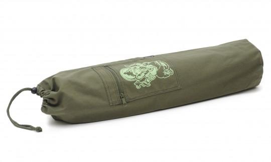 Yoga carrybag basic - cotton - art collection - 65 cm ganesha olive
