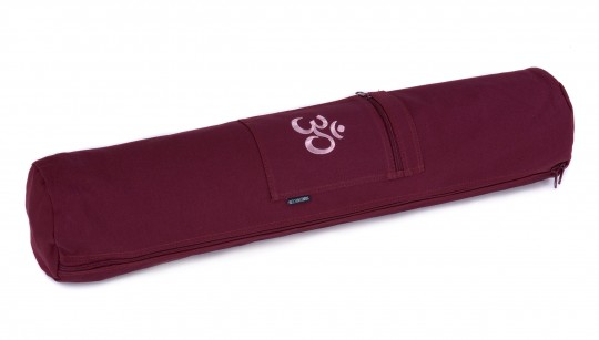 Yoga carrybag basic - zip - cotton - art collection - 65 cm OM bordeaux