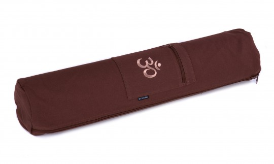 Yoga carrybag basic - zip - cotton - art collection - 65 cm OM choco