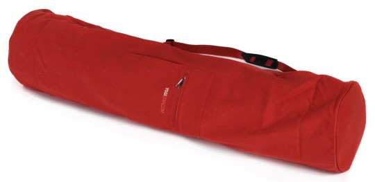 Yogatasche basic - zip - extra big - cotton - 109 cm red