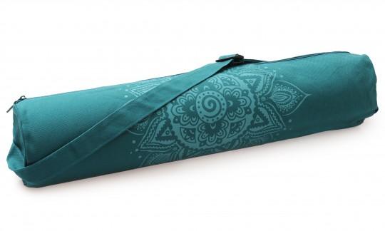 Yogatasche yogibag® basic - zip - cotton - art collection - 65 cm - spiral mandala - petrol