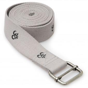 Yoga belt yogibelt 'OM', MB - grey