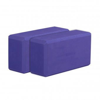 Yogablock yogiblock® basic - 2er-Set violett