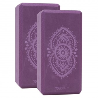 Yogablock yogiblock® basic - art collection - ajna chakra - aubergine - 2er-Set