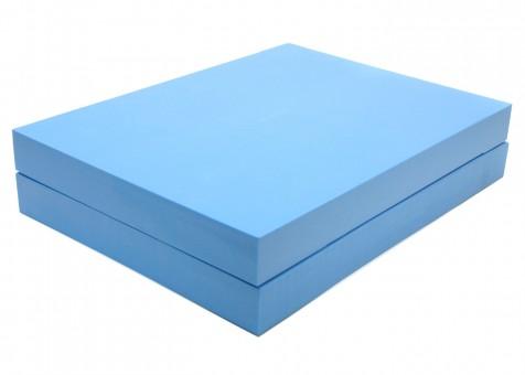 Yogablock Schulterstand 2er Set, blau