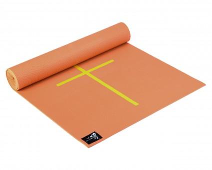 Yoga mat 'Plus - alignment' mango