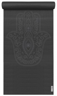 Yogamatte yogimat® basic - art collection - hand of fatima zen black
