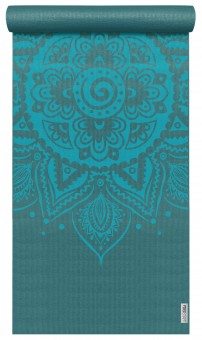 Yogamatte yogimat® basic - art collection - spiral mandala petrol