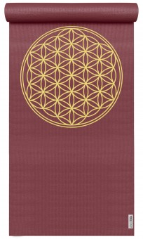 Yogamatte yogimat® basic - flower of life bordeaux