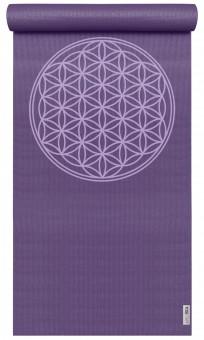 Yogamatte yogimat® basic - flower of life violet