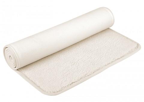 Yoga mat (sheep wool) bordered 75x200cm