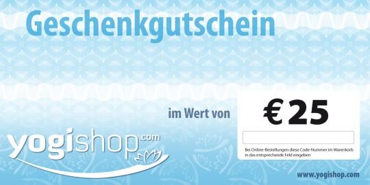 Geschenkgutschein 25 EUR