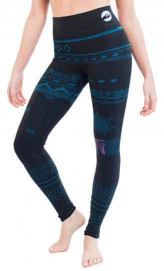 "Yoga-Leggings ""Balance"" - black/blue"