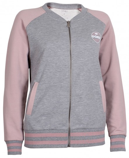 Yoga College Jacke - grau melange/winter rose